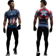 Marvel Super Heroes Clothing Marvel Superhero Spidermam Compression Mens T Shirt Long Pants