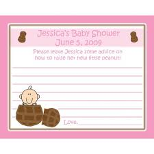 advice cards for 24 baby shower advice cards personalized peanut