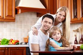 happy family kitchen home