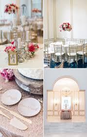 Blush Pink Decor by Elegant Gold U0026 Pink Wedding Decor Mon Cheri Bridals