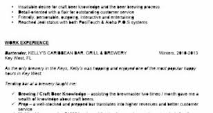Bartender Resume Templates Resume Format Cover Letter Resume Templates