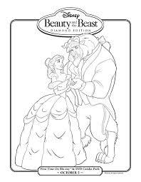disney beauty beast coloring beauty beast