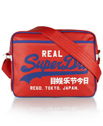 alumni bags mens mash up alumni bag in football baseball blue superdry