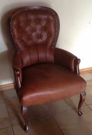 Leather Chair Upholstery Reupholstery Of Queen Anne Chair Using Leather Upholstery Cape Town
