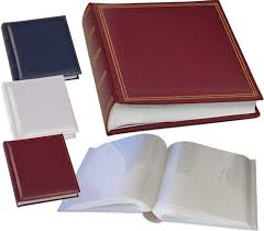 photo album with memo space monza 7x5 slip in 200 photo albums various colours