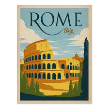 photo postcards rome italy colosseum postcard zazzle