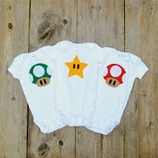 mario baby clothes mushroom onesies video game gift pack
