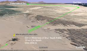 Map Of The Red Sea The Exodus Route 2nd Red Sea Camp