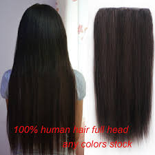 human hair clip in extensions so thick 160g 200g one clip in hair extensions 100