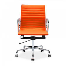 fauteuil de bureau orange orange eames style back executive office chair cult uk