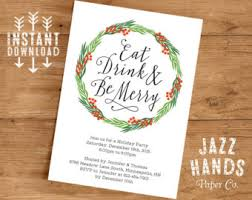 christmas invitations printable holiday party invites