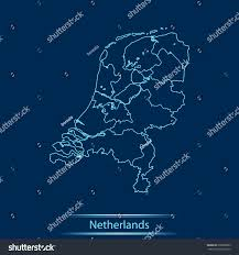 Map Of Netherlands Map Netherlands Stock Vector 628969685 Shutterstock