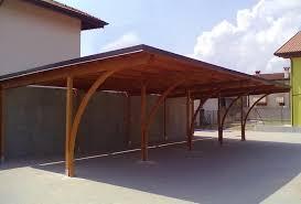struttura in legno per tettoia modelli box auto in legno