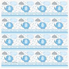 baby shower paper blue elephant baby shower gift wrapping roll boy baby shower