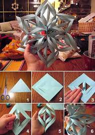 make a 3d paper snowflake paper snowflakes 3d paper snowflakes