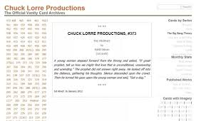 The Big Bang Theory End Credit Vanity Cards What Are The Funniest Chuck Lorre Vanity Cards Chuck Lorre Quora