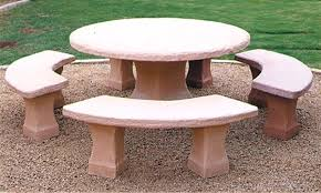 round cement picnic tables concrete tables and benches concrete table bench by artisan with