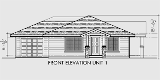 single story home plans single story duplex house plan corner lot duplex house plan d497