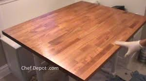 refinish butcher block youtube