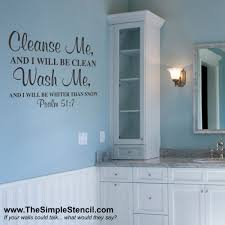 a psalms bible verse that is the perfect decor for a bathroom