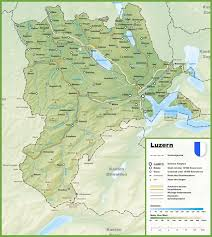Autobahn Germany Map by Canton Of Lucerne Map With Cities And Towns