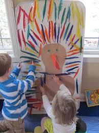 sticky paper turkey dress up and patterning teach preschool