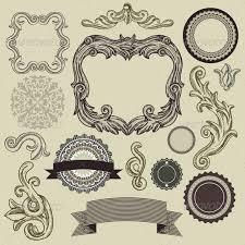 vintage design collection of vintage design elements by venimo graphicriver