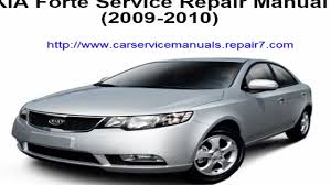 service repair manual kia forte 2009 2010 youtube