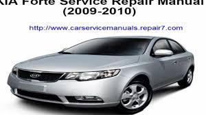 service repair manual kia forte 2009 2010 youtube