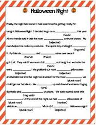 halloween mad libs harvest party game diy printable two sided