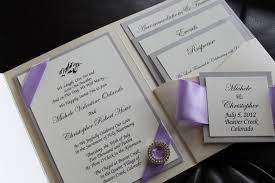 invitation pockets opulence pocket wedding invitation in lilac and silver shimmer
