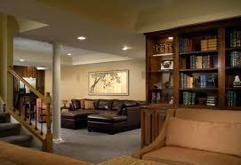 cool basement ideas providing media room and entertainment with