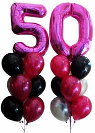 50th birthday balloon bouquets 50th birthday balloons helium balloons perth 50 megaloon
