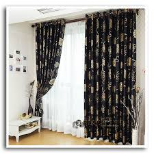 Light Silver Curtains Anticorrosive Metal Grommet Beautiful Black And Gold Curtains