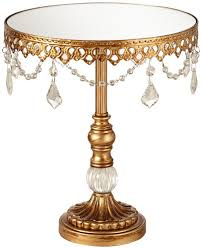 gold cake stands antique gold and mirror top 12x10 cake