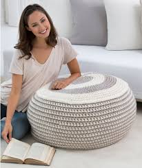 Crochet Ottoman Pattern Stylish Pouf