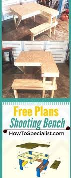 knock down picnic table plans how to build a shooting bench step by step plans and instructions