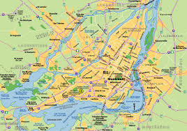 Map Of Canada Cities by Montreal Map