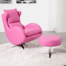 Pink Leather Chair by Fama Leather Lenny Chair