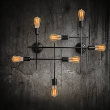 Industrial Wall Sconce Light Unique Black Wrought Iron Industrial Wall Sconces