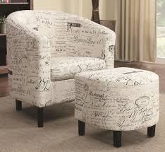 accent chair and ottoman set in french script pattern 19 office