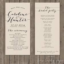 where to print wedding programs printable wedding program the bailey collection 2418018 weddbook