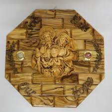 olive wood wall hanging god bless our home jesus christ holy