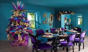 blue kitchen decor purple christmas decorating ideas christmas