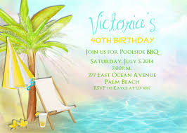 birthday or retirement invitation beach pool luau party