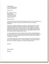 cover letter to client letter of recommendation