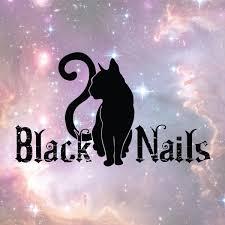 contact black cat nails