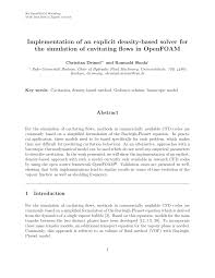 implementation of an explicit density based solver for the