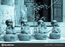four monks zen ornaments stock photo yanmiao 151505216
