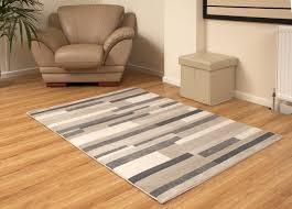 Laminate Flooring Brick Pattern Modern Rug Brick Pattern 120x170cm Strata Grey And Cream Brick